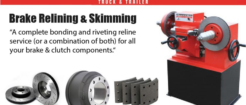 a complete bonding and riveting reline service (or a combination of both) for all your brake & clutch components